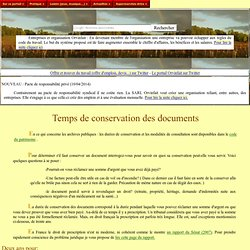 Temps de conservation des documents