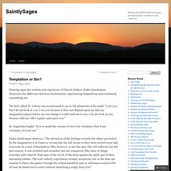 Temptation or Sin? | SaintlySages