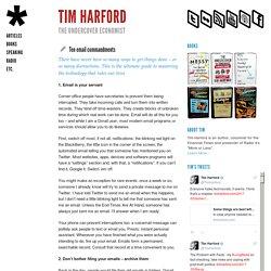 Ten email commandments