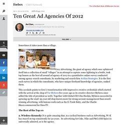 Ten Great Ad Agencies Of 2012
