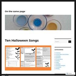 Ten Halloween Songs