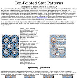 Ten-Pointed Star Tessellation
