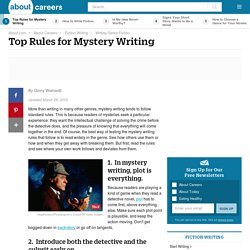 Ten Rules for Mystery Writing