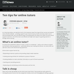 Ten tips for online tutors