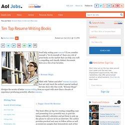 Resume Rescue: 10 Top Resume Writing Books