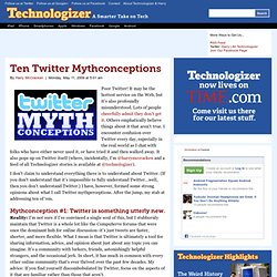 Ten Twitter Mythconceptions