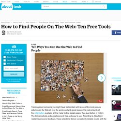 Ten Ways You Can Use the Web to Find People