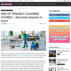 END OF TENANCY CLEANING STAINES - New best cleaners in town!