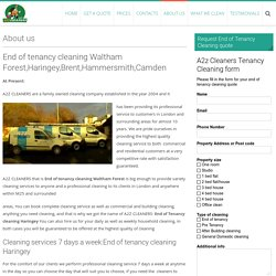 End Of Tenancy cleaning Waltham Forest, cleaning Haringey and Brent