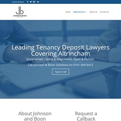 Tenancy Deposit Claim Solicitors in Altrincham
