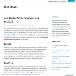 Top Tenant Screening Services of 2019 – Hire Image