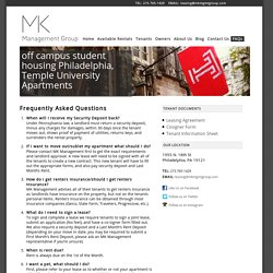 Tenants FAQ - MK Management Group