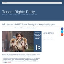 Why tenants MUST have the right to keep family pets
