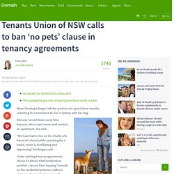 Tenants Union of NSW calls to ban 'no pets' clause in tenancy agreements