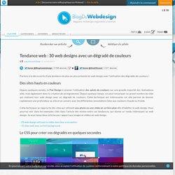Tendance web : 30 web designs avec un dégradé de couleurs