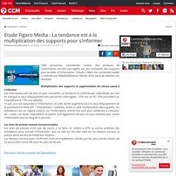 Etude Figaro Media : La tendance est à la multiplication des supports pour s'informer