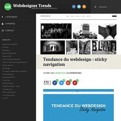 Tendance du webdesign : sticky navigation