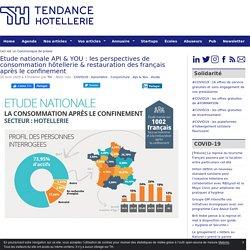 Etude nationale API & YOU : les perspectives de consommation hôtellerie & restauration des français après le confinement - TendanceHotellerie