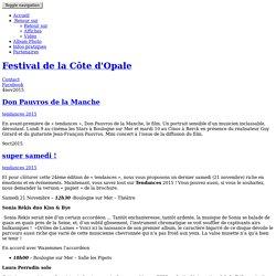 Festival de la Côte d'Opale, tendances 2015