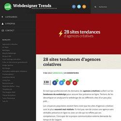 28 sites tendances d'agences créatives