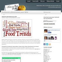 Tendances alimentaires pour 2014