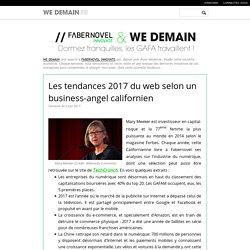 Les tendances 2017 du web selon un business-angel californien
