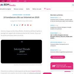 10 tendances clés sur Internet en 2019