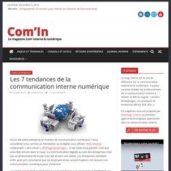 Les 7 tendances de la communication interne numérique - Com'In