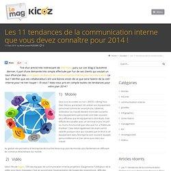 Les 11 tendances de la communication interne que vous devez connaître pour 2014 !