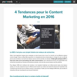 4 tendances pour le content marketing en 2016