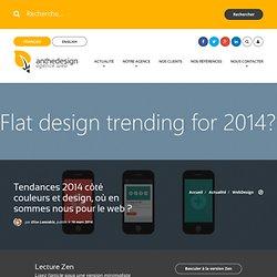 Tendances 2014 côté couleurs et design, où en sommes nous pour le web?