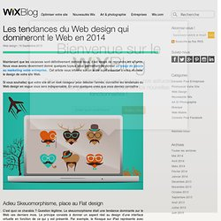 Tendances du Web design pour 2014 - Le Blog Officiel de Wix.com
