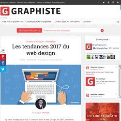 Les tendances 2017 du web design - Graphiste.com