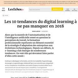 Les 10 tendances du digital learning à ne pas manquer en 2018