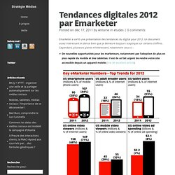 Tendances digitales 2012 par Emarketer