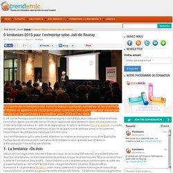 Tendances 2015 pour l'entreprise selon Joël de Rosnay
