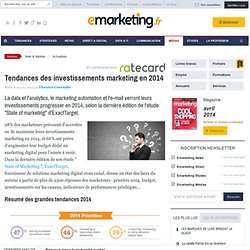 Tendances des investissements marketing en 2014