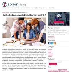 Quelles tendances pour le Digital Learning en 2017 ? - le blog de Solerni – plateforme de MOOCs