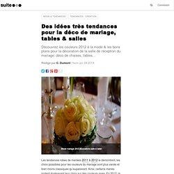 Des idées très tendances pour la déco de mariage, tables & salles
