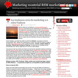 tendances marketing internet 2010 et outils de mesures