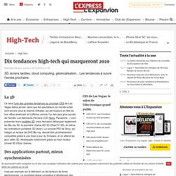 Dix tendances high-tech qui marqueront 2010