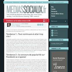 Médias sociaux > 6 tendances sur les médias sociaux en 2011