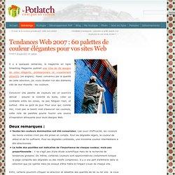 Tendances Web 2007 : 60 palettes de couleur élégantes pour vos sites Web - Le Potlatch