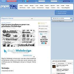 630 icones tendances pour vos prochains Webdesign