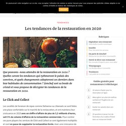 Les tendances de la restauration en 2020