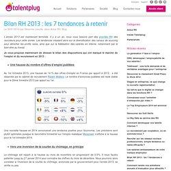 Bilan RH 2013 : les 7 tendances à retenir