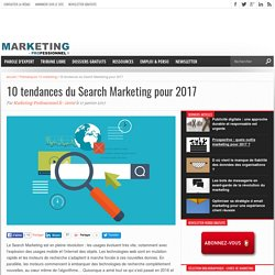 10 tendances du Search Marketing pour 2017