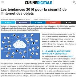 Les tendances 2016 pour la sécurité de l'Internet des objets