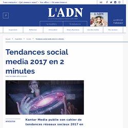 Tendances social media 2017 en 2 minutes