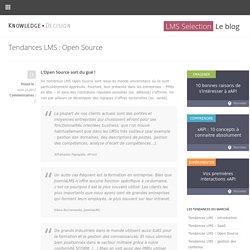 Tendances LMS : Open Source